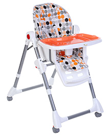 Infanto Ultima Baby Highchair Multiple Print - Orange