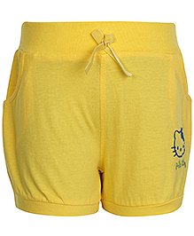 Hello Kitty Shorts With Two Side Pockets Yellow