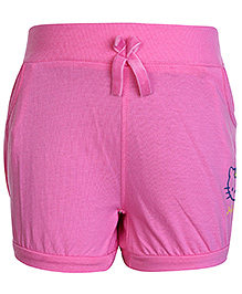 Hello Kitty Shorts With Two Side Pockets Pink