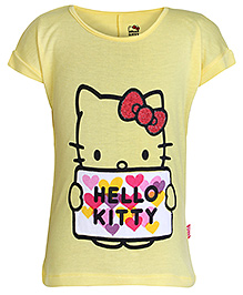 Hello Kitty Short Sleeves T-Shirt Yellow