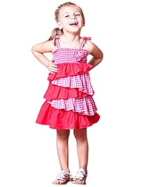 Jelly The Pug Singlet Teaberry Check Summer Fun Dress