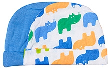 Luvable Friends Hippo Print Caps - Pack of 2