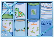 Luvable Friends Clothing Grow With Me Set Blue - 8 Pieces
