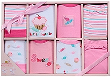 Luvable Friends Clothing Grow With Me Set Pink - 8 Pieces