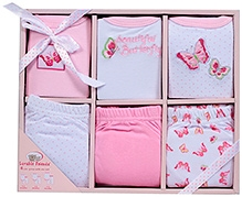 Luvable Friends Clothing Grow With Me Set Pink - 6 Pieces