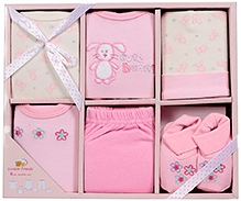 Luvable Friends Clothing Layette Box Pink - 6 Pieces