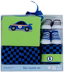 Luvable Friends Clothing layette Set 5 Pieces - Green And Blue
