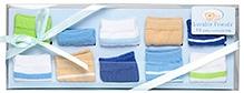 Luvable Friends Stripe Dot Socks Gift set 10 Pieces  - Blue