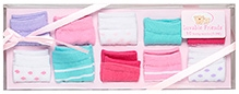 Luvable Friends Stripe Dot Socks Gift set 10 Pieces - Pink