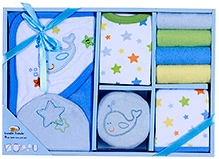 Luvable Friends Bath Time Set Blue- 9 Pieces
