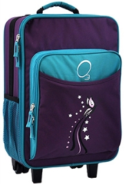 O3 Kids Turquoise Butterfly Trolley Bag With Integrated Snack Cooler - 16 inches