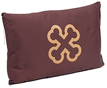 The Shrunks Pillow And Pillow Case Bone Print - Brown