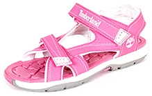 Timberland Mad River Dual Velcro Strap Sandals - Pink and White