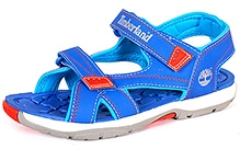 Timberland Mad River Dual Velcro Strap Sandals - Blue and Orange