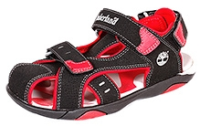 Timberland Sports Casual Dual Strap Closure Sandal - Black and Red