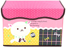 Fab N Funky Cat Print Storage Box- Pink
