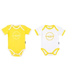 Claesens Short Sleeves Suits Yellow - Pack Of 2