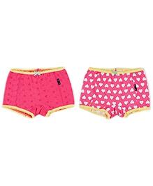 Claesens Shorty Panties Heart Print - Set of 2