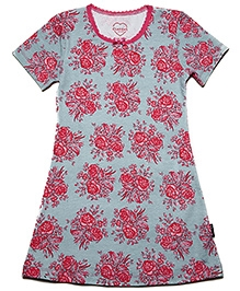 Claesens Short Sleeves Nighty Rose Print - Green