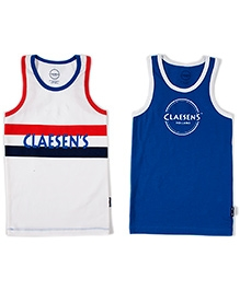 Claesens Sleeveless Printed Vest - Pack Of 2