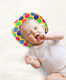 Babyhug Baby Pillow Polka Dot Print - Yellow