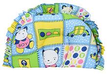 Babyhug Semi Circular Baby Pillow Multi Print - Blue - 15 X 24.5 Cm