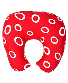Babyhug Baby Pillow with Neck Support Circle Print - Red
