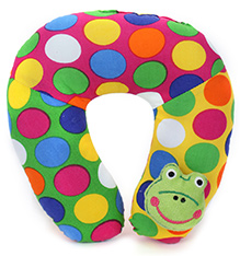 Babyhug Neck Protector Pillow with Motif - Froggy