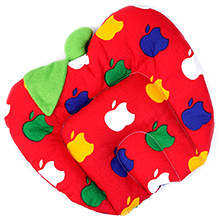 Babyhug Fruit Shape Pillow With Rai Seed Filling - Red