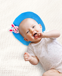 Babyhug Shape Supporter Pillow with Bunny Motif  - Blue