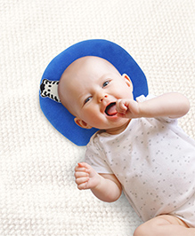 Babyhug Shape Supporter Baby Pillow With Zebra Motifs - Royal Blue
