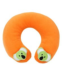 Babyhug Neck Supporter Pillow Orange With Two Motifs - Koala - 21 X 23 X 6 Cm