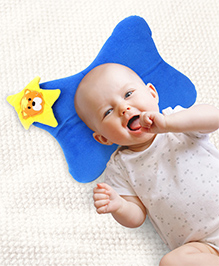 Babyhug Baby Pillow Butterfly Shape - Blue