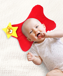 Babyhug Baby Pillow Butterfly Shape - Red