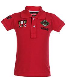 Gini & Jony Half Sleeves Polo T Shirt - Red