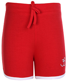 SAPS Plain Shorts Red