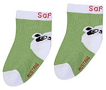 Mustang Ankle Length Socks Safari Print - Green