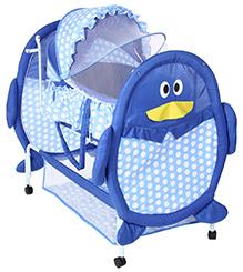 Fab N Funky Baby Cradle Blue - Penguin Design