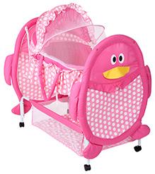 Fab N Funky Baby Cradle Pink - Penguin Design