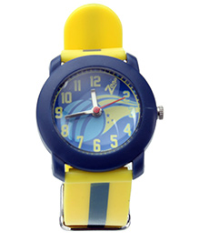 Titan Zoop Analog Wrist Watch - Blue and Yellow