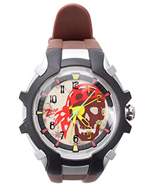 Titan Zoop Analog Wrist Watch - Black and Silver