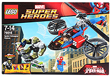 Lego Spider-Helicopter Rescue Building Set- 299 Pieces
