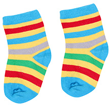 Mustang Ankle Length Socks Stripes Design - Yellow