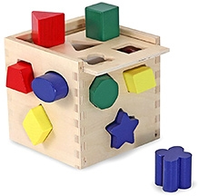 Melissa and Doug Wooden Shape Sorting Cube