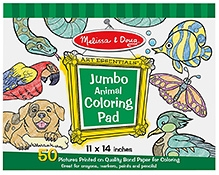 Melissa & Doug Jumbo Coloring Pad- Animals
