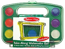 Melissa and Doug Take Along Water Color Paint Set