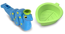 Melissa & Doug Mombo Snake Bubble Whistle- Blue