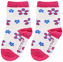 Mustang Ankle Length Floral Print Socks - Size 2
