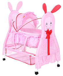 Fab N Funky Baby Cradle Pink - Rabbit Design