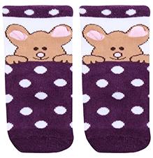 Mustang Ankle Length Bear Print Socks